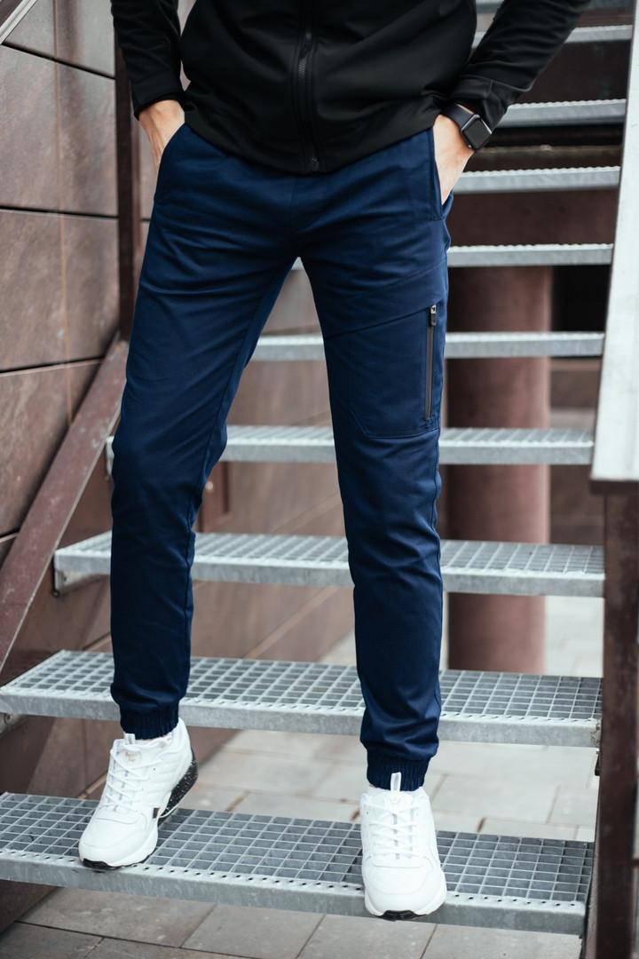 "Штаны мужские Pobedov trousers ""Mario"" синие"