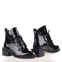Лаковые женские ботинки 1459-C685 BLACK LAK весна 2020, фото 1