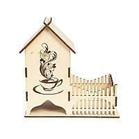 Підставка для чайних пакетиків і чашки - Чайний будиночок 2в1, фото 1