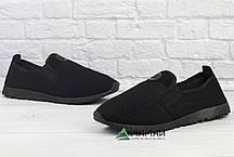 Слипоны мужские черные 40р, фото 2