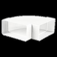 Колено горизонтальное 90° для плоских каналов 55х110 мм