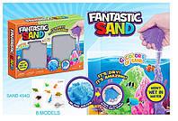 """Игра """" Живой песок""""  6724A (36шт)4 цвета по 454 гр,мерцающий,фигурки,в коробке"""