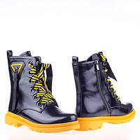 Массивные Демисезонные ботинки W2154-2729AH BLACK KOGA весна 2020, фото 1