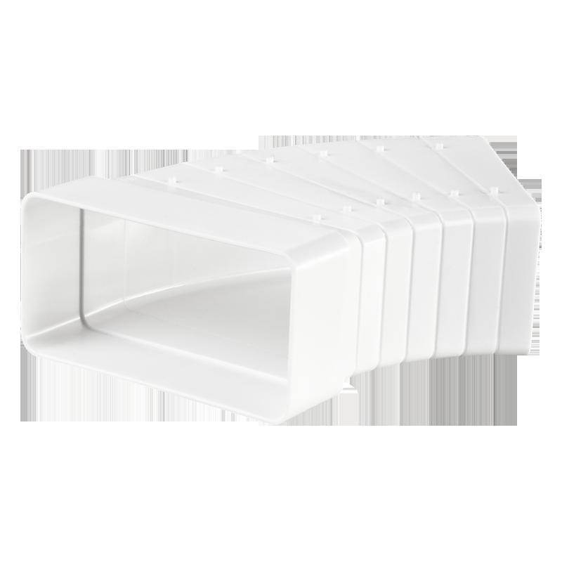 Универсальный угловой соединитель для плоских каналов 55х110 мм