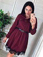 Платье женское с кружевной отделкой, фото 1