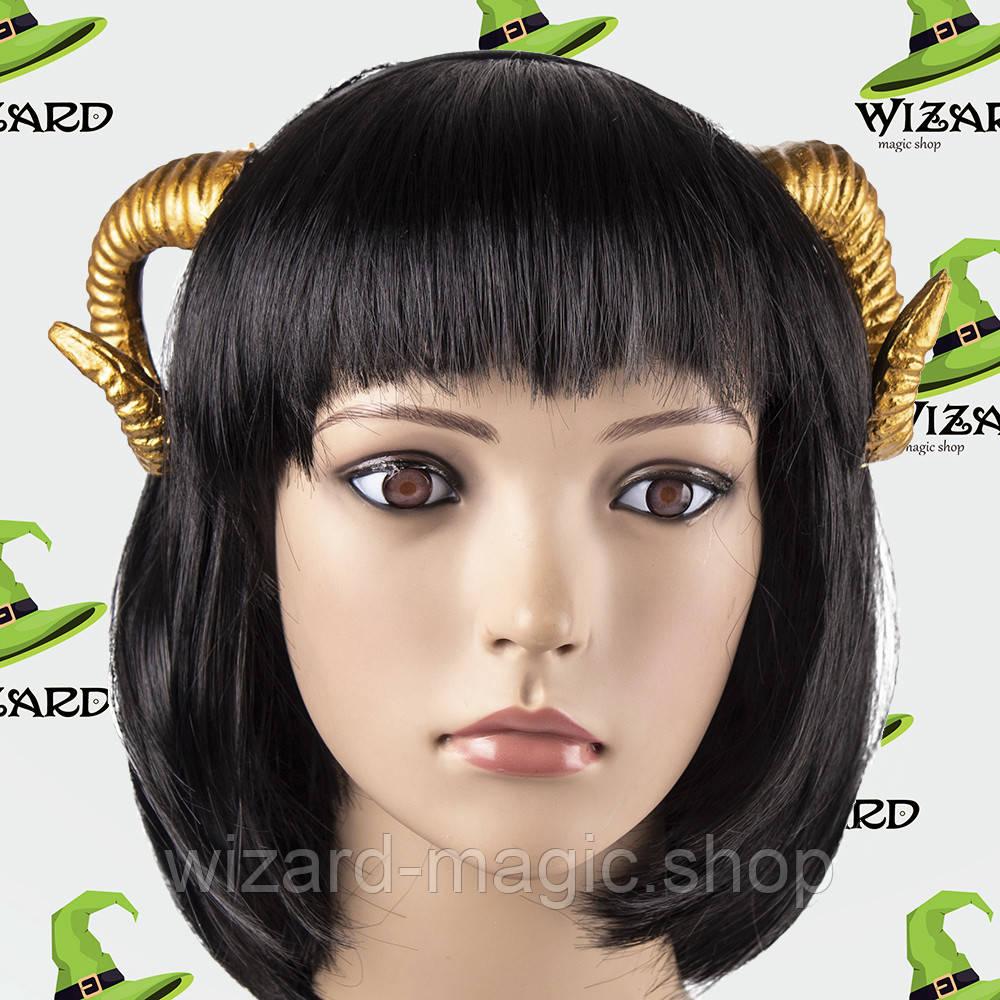 Рога демона Вельзевула на обруче золото