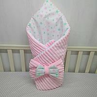 """Плюшевый конверт-одеяло для новорожденных""""Миля"""""""