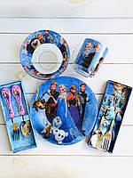 Набор из 5 предметов детской посуды Холодное сердце Фрозен, Эльза