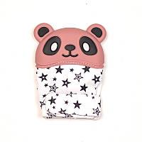 Варежка-грызунок SLINGOPARK «Панда» (розовый со звёздами)