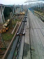 Транспортер для бревен, конвейер колод, бревнотаска