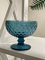 Креманка для десерта из цветного синего стекла Амадео (набор из 6шт)