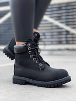Женские ботинки Timberland 6 Inch Premium black (MADE IN USA)