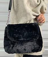 Красивая оригинальная женская сумка с искусственным мехом,Сумок много не бывает!!!, фото 1