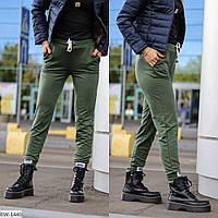 Модные весенние спортивные штаны с нашивками арт 209
