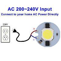 Светодиодный модуль COB LED 12W AC220V 27mm, фото 1