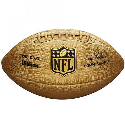 Мяч для американского футбола Wilson Duke Metallic Edition Gold SS19 (9057), фото 2