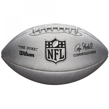М'яч для американського футболу Wilson Duke Metallic Edition Silver SS19 (9058), фото 2