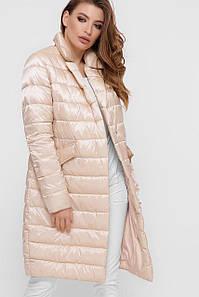 Модная удлиненная демисезонная куртка  с 42по 48 размер