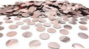 Конфетти кружочки  розовое золото  23 мм вес 500 гр.