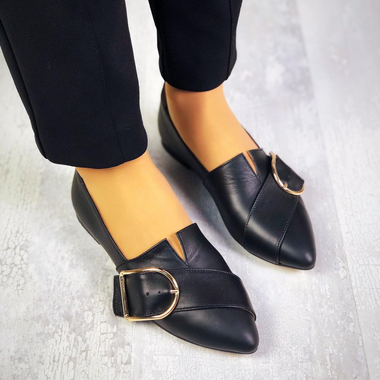 Кожаные туфли на низком ходу 36-40 р