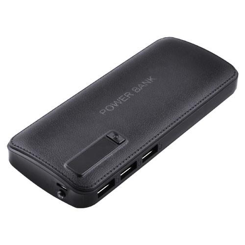 Внешний аккумулятор PowerBank JS-88 20000mAh 3USB, индикатор заряда, фонарик (8000mAh) черный
