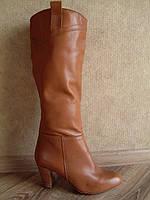 Сапоги женские демисезонные кожаные