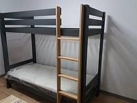 Кровать деревянная детская двухэтажная Ягнята (200х90), фото 1