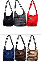 Женские стеганные сумки на плечо с боковой змейкой (6 цветов ОДНОТОННЫЙ)29*32см, фото 1