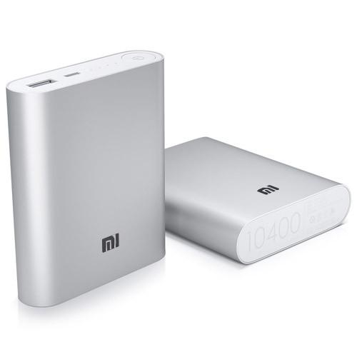 Внешний аккумулятор Power Bank MI 10400 mAh USB (2A), индикатор заряда (4800mAh) серебристый copy