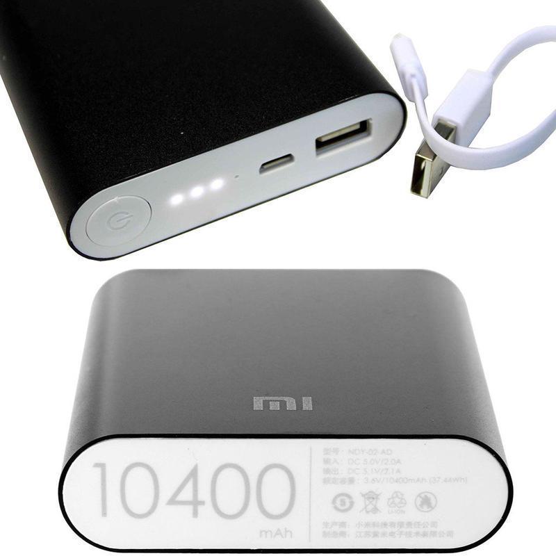 Внешний аккумулятор Power Bank MI 10400 mAh USB (2A), индикатор заряда (4800mAh) черный copy