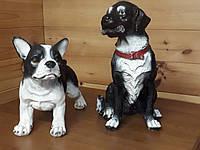 Садовая фигура. Собака. Французский бульдог из Лабрадором.