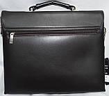 Мужская черная сумка, барсетка на плечо с клапаном 33*26 см, фото 2
