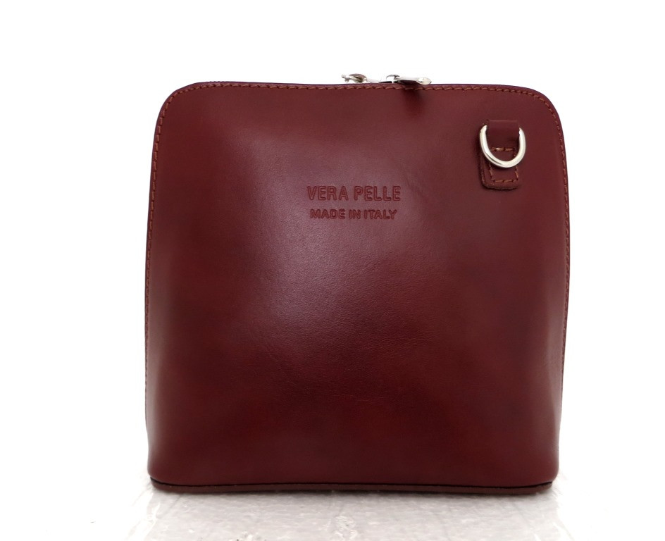 Маленькая женская сумочка. 100% кожаная. Италия. Коричневый, фото 1
