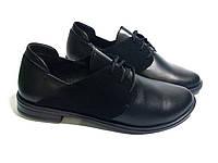 Женские туфли из натуральной кожи замшевые вставки. Код D 969