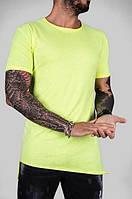 Мужская модная футболка с разрезами (три цвета)