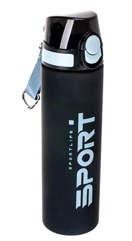 Бутылка-поилка спортивная ST01474 750 мл, черно-серая