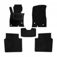 Текстильные коврики в салон One Auto Kia Rio II 2005-2011 Комплект 5 шт Черные (tkiaRII0511)