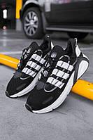 Кроссовки мужские весенние осенние качественные модные Adidas Lexicon Black/White, фото 1