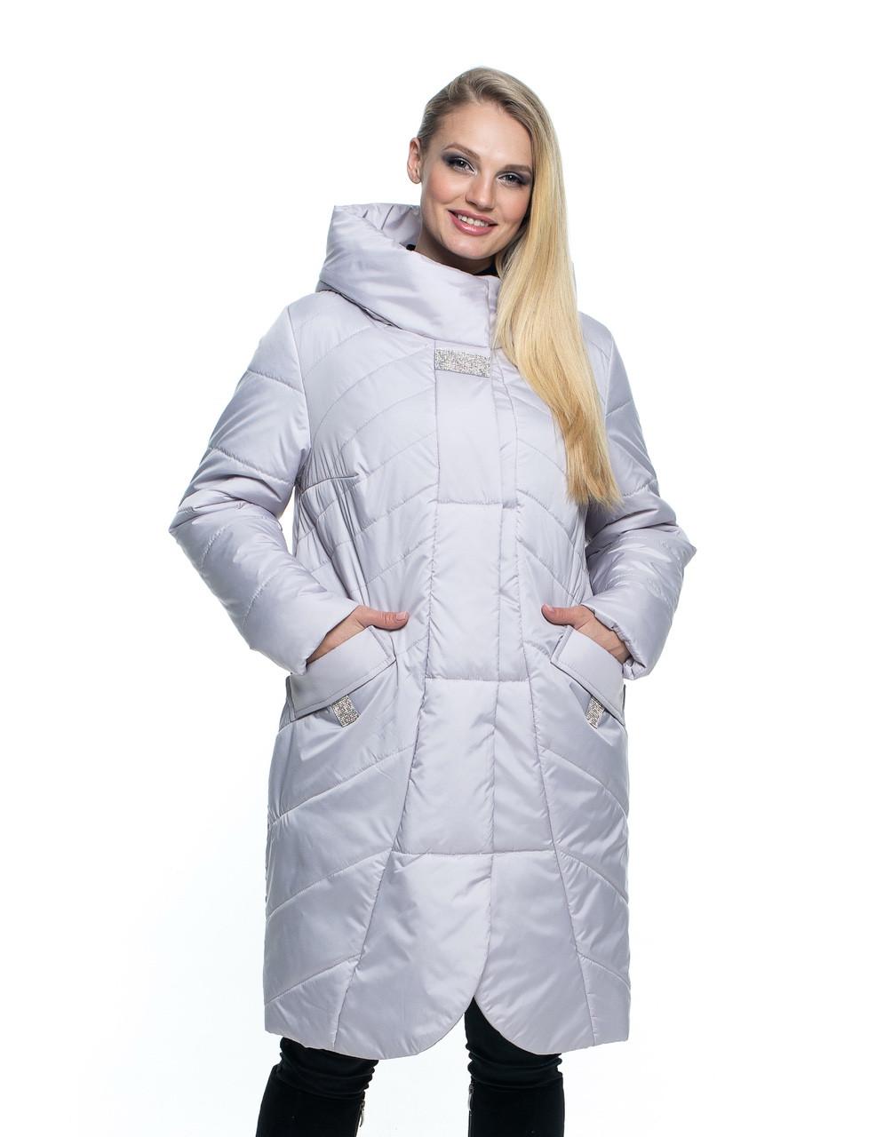 Демисезонная женская удлиненная куртка, размеры 44 - 56