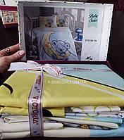Постельное белье, для новорожденных, мишка на луне, Victoria, Турция