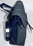 Женские рюкзаки, портфели городские и молодежные с клапаном 24*27 см (беж, пудра, персик), фото 2
