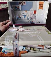 Постельное белье, для новорожденных, мишка в лодке, Victoria, Турция