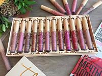Набор жидких матовых помад Кайли Дженнер Kylie Jenner 12 оттенков, стойкая матовая жидкая помада! SMU Shop