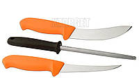 Набор MORA Hunting Set Orange 2 Knives+Sharpener