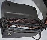 Женские клатчи-конверты через плечо с клапаном и на 3 отделения внутри 25*16 см, фото 3