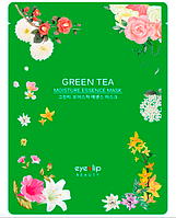 Увлажняющая тканевая маска для лица Eyenlip Moisture Essence Mask Green Tea 25 мл, фото 1