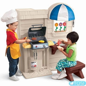 Кухня двухсторонняя с барбекю Little Tikes , фото 2