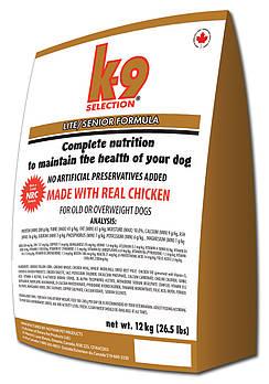 Сухой корм для пожилых собак и для собак с избыточным весом K-9 Selection Lite/Senior Formula 12 кг
