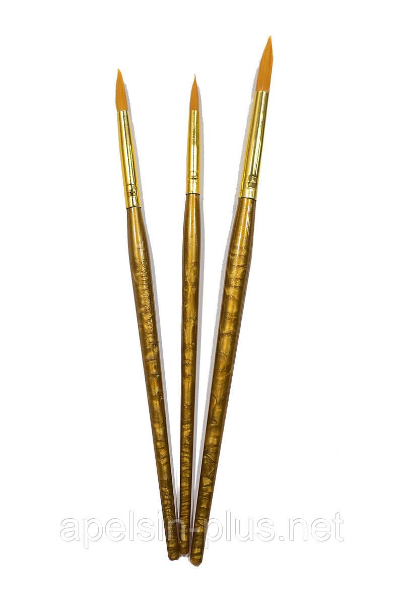 Набір кондитерських кистей для розпису пряників 3 штук
