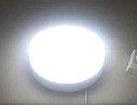 Светодиодный уличный Потолочный Светильник 18 ватт 6000K (Б/у большой корпус с новым светодиодом+конденсатор)